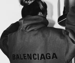 Balenciaga and black & white image