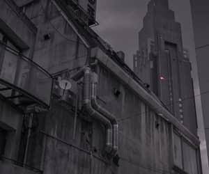 black, building, and grunge image