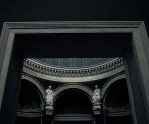 architecture, cyberpunk, and dark image