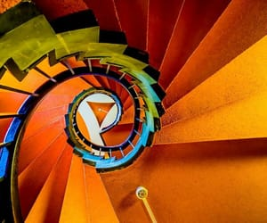 architecture, stairs, and orange image