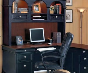 elegant, home office, and manly image