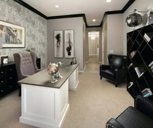 elegant, home office, and modern image