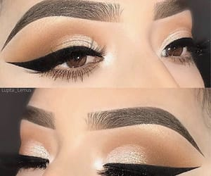 eye liner, girly, and look image