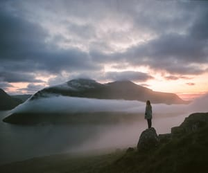 nature, mountains, and clouds image