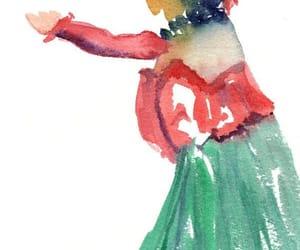etsy, watercolor painting, and hula dance image