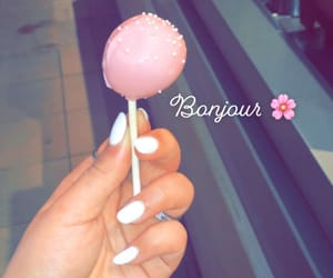 Blanc, nails, and bonjour image