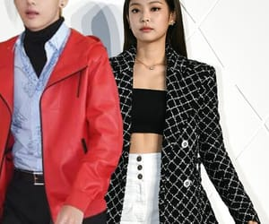 red carpet, chanel couple, and jennie image