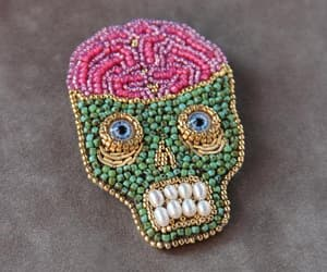 anatomical, brains, and modern embroidery image