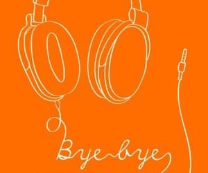 bye, headphones, and music on image