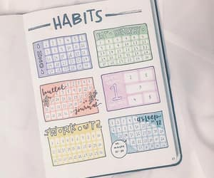 colors, habits, and bullet journal image