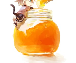 bottle, cute, and orange jam image