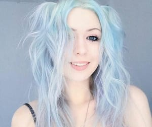 baby blue, blue, and pastel blue image