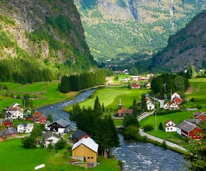 norway and aurland image