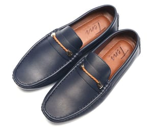 shoes for men, tens shoes, and navy blue loafers image