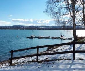 blue, sky, and lake image