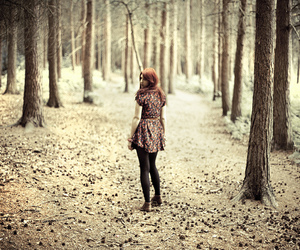 2010, forest, and girl image