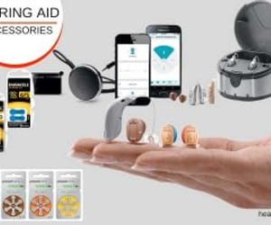 hearing aid accessory and hearing aid battery image