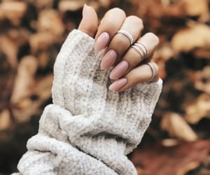 nails, rings, and autumn image