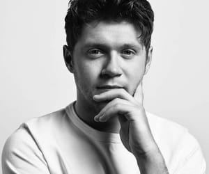 black and white, handsome, and niall horan image