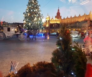 beautiful, christmas tree, and Krakow image