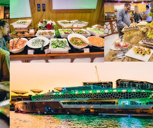 cruise, dinner, and megayacht image