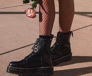 rose, grunge, and boots image