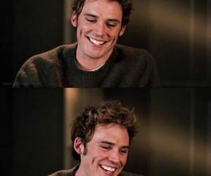 sam claflin, smile, and the hunger games image