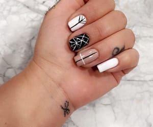 manicure, nails, and longnails image