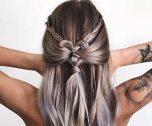beauty, hairstyle, and plaits image