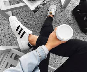 adidas, fashion, and coffee image