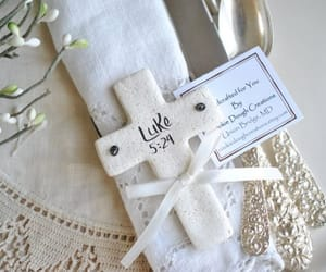 cross, baptism favors, and christian gifts image