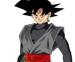 anime, dragonball, and goku black image