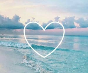 wallpaper, heart, and sea image
