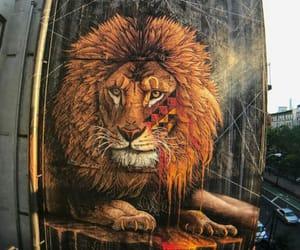 leao, lion, and street art image