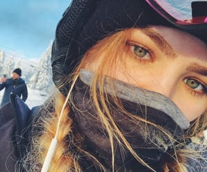 blonde, cold, and eyes image