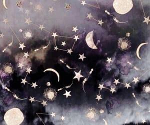 stars, moon, and sky image