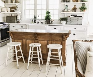 kitchen, neutrals, and shabby chic image