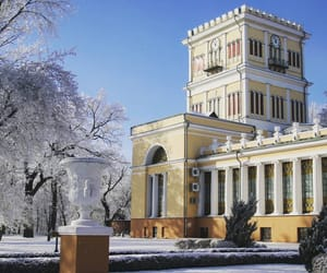 belarus, palace, and snow image