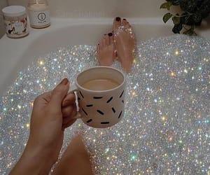 bath, chill, and glitter image