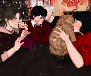 harry potter, draco, and drarry image