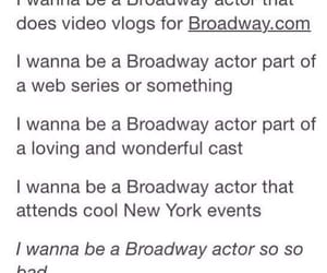acting, broadway, and me image