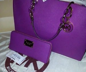 bag, Michael Kors, and purple image