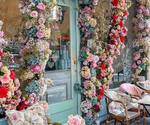 coffee shop and flowers image