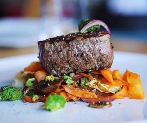beef, food porn, and vegetables image