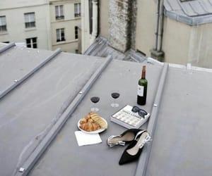 wine, paris, and food image