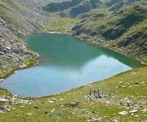 heart, lake, and nature image