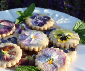 Cookies, sweet, and flowers image