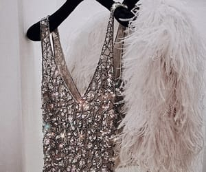 coat, dress, and sequins image