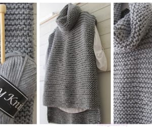 knitting, sweater, and vest image