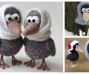 bird, crochet, and crow image